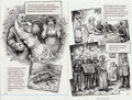 Original Comic Art:Panel Pages, Robert Crumb Kafka For Beginners (R. Crumb's Kafka)Pages 50-51 Original Art (Totem Books, 1993)....