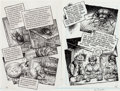 Original Comic Art:Panel Pages, Robert Crumb Kafka For Beginners (R. Crumb's Kafka)Pages 42-43 Original Art (Totem Books, 1993)....