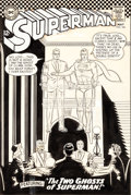 Original Comic Art:Covers, Curt Swan and George Klein Superman #186 Cover Original Art(DC, 1966)....