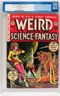 Golden Age (1938-1955):Science Fiction, Weird Science-Fantasy Annual #1 (EC, 1952) CGC VF- 7.5 Off-whitepages....