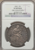 Seated Dollars, 1845 $1 -- Obverse Scratched -- NGC Details. VF. NGC Census:(0/156). PCGS Population (2/233). Mintage: 24,500. Numismedia ...
