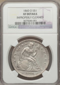 Seated Dollars: , 1860-O $1 -- Improperly Cleaned -- NGC Details. XF. NGC Census:(32/716). PCGS Population (64/1079). Mintage: 515,000. Numi...