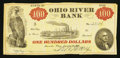 Obsoletes By State:Ohio, Marietta, OH- The Ohio River Bank $100 June 15, 1838 G16 Wolka1561-04. ...