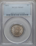 Liberty Nickels: , 1891 5C MS65 PCGS. PCGS Population (85/24). NGC Census: (66/14).Mintage: 16,834,350. Numismedia Wsl. Price for problem fre...