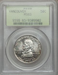 Commemorative Silver: , 1925 50C Vancouver MS63 PCGS. PCGS Population (702/2004). NGCCensus: (278/1694). Mintage: 14,994. Numismedia Wsl. Price fo...