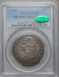 Bust Half Dollars: , 1834 50C Small Date, Small Letters AU55 PCGS. CAC. PCGS Population(135/284). ...