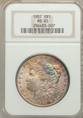 Morgan Dollars: , 1887 $1 MS65 NGC. NGC Census: (25689/4030). PCGS Population (15126/1553). Mintage: 20,290,710. Numismedia Wsl. Price for pr...
