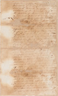 Autographs:Military Figures, [Old Three Hundred]. William Barret Travis and David G. BurnetLegal Document Signed....
