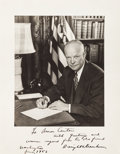 Autographs:U.S. Presidents, [Amon Carter]. Dwight D. Eisenhower Inscribed Photograph Signed....