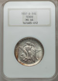 Commemorative Silver: , 1937-D 50C Texas MS66 NGC. NGC Census: (467/99). PCGS Population(499/130). Mintage: 6,605. Numismedia Wsl. Price for probl...