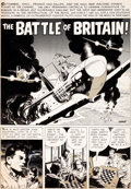 "Original Comic Art:Complete Story, Wally Wood and Dan Adkins Blazing Combat #3 Complete 7-Page Story ""The Battle of Britain"" Original Art (Warren..."