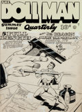 Original Comic Art:Panel Pages, Gill Fox The Doll Man Quarterly #3 Summer Issue CoverOriginal Art (Quality Comics, 1942)....