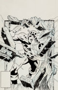 Original Comic Art:Covers, Larry Lieber Captain America Illustration Original Art(Marvel, undated)....