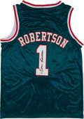 Basketball Collectibles:Uniforms, Oscar Robertson Signed Jersey - With Full Name Signature. ...