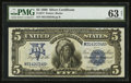 Large Size:Silver Certificates, Fr. 277 $5 1899 Silver Certificate PMG Choice Uncirculated 63 Net.. ...