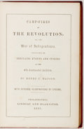 Books:Americana & American History, Henry C. Watson. The Campfires of the Revolution.Philadelphia: Lindsay and Blakiston, 1858. Later edition. Largeoc...