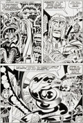 Original Comic Art:Panel Pages, Jack Kirby and Joe Sinnott Fantastic Four #102 Magneto Page8 Original Art (Marvel, 1970)....