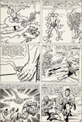 Original Comic Art:Panel Pages, Jack Kirby and Dick Ayers Fantastic Four Annual #1 HumanTorch vs. the Sub-Mariner Page 27 Original Art (Marvel, 1...