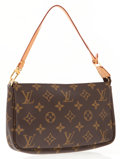 Luxury Accessories:Accessories, Louis Vuitton Classic Monogram Canvas Pochette Bag. ...