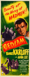 "Movie Posters:Horror, Bedlam (RKO, 1946). Insert (14"" X 36""). Horror.. ..."