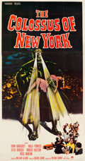 """Movie Posters:Science Fiction, The Colossus of New York (Paramount, 1958). Three Sheet (41.5"""" X79.5"""").. ..."""