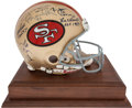 Football Collectibles:Helmets, San Francisco 49ers Hall of Famers Multi Signed Helmet - Once Owned by Bill Walsh....