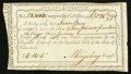 Colonial Notes:Connecticut, Connecticut Interest Certificate Sep. 28, 1791 4 Pounds 14shillings 5 pence Extremely Fine.. ...