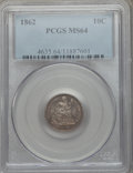 Seated Dimes: , 1862 10C MS64 PCGS. PCGS Population (41/31). NGC Census: (54/46).Mintage: 847,000. Numismedia Wsl. Price for problem free ...
