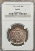 Commemorative Silver: , 1920 50C Maine MS66 NGC. NGC Census: (291/29). PCGS Population(382/30). Mintage: 50,028. Numismedia Wsl. Price for problem...