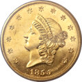 Territorial Gold, 1855 $50 Kellogg & Co. Fifty Dollar PR64 Cameo PCGS. K-4,R.7....