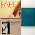 Books:Books about Books, [Books About Books]. Group of Three Books on Papermaking. Various publishers, 1954-1987. Various editions. Octavo and quarto... (Total: 3 Items)