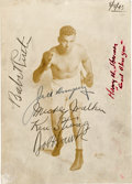 Boxing Collectibles:Memorabilia, 1943 Jack Dempsey & Babe Ruth Signed Photograph. ...