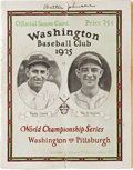 Autographs:Others, 1925 Walter Johnson Signed World Series Program. ...