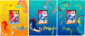 Baseball Collectibles:Others, 2009 Derek Jeter Original Peter Max Artwork Lot of 3. ...