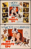 """Movie Posters:Comedy, My Favorite Spy (Paramount, 1951). Half Sheets (2) (22"""" X 28"""") Style A & B. Comedy.. ... (Total: 2 Items)"""