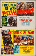 "Movie Posters:War, Prisoner of War (MGM, 1954). Half Sheets (2) (22"" X 28"") Styles A& B. War.. ... (Total: 2 Items)"