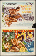 "Movie Posters:Adventure, Tarzan and the Lost Safari (MGM, 1957). Half Sheets (2) (22"" X 28"")Styles A & B. Adventure.. ... (Total: 2 Items)"