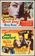 "Movie Posters:Romance, Torch Song (MGM, 1953). Half Sheets (2) (22"" X 28"") Style A & B. Romance.. ... (Total: 2 Items)"