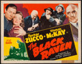 "Movie Posters:Mystery, The Black Raven (PRC, 1943). Half Sheet (22"" X 28""). Mystery.. ..."