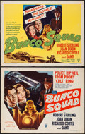 "Movie Posters:Crime, Bunco Squad (RKO, 1950). Half Sheets (2) (22"" X 28"") Style A &B. Crime.. ... (Total: 2 Items)"