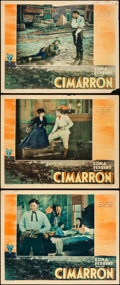 "Movie Posters:Western, Cimarron (RKO, 1931). Lobby Cards (3) (11"" X 14"").. ... (Total: 3Items)"