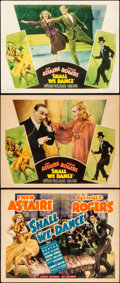 "Movie Posters:Musical, Shall We Dance (RKO, 1937). Title Lobby Card and Lobby Cards (2)(11"" X 14"").. ... (Total: 3 Items)"