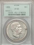 Coins of Hawaii, 1883 $1 Hawaii Dollar XF45 PCGS....