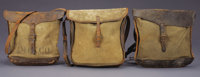 """LOT OF 3 SHOULDER STYLE """"EXPRESS"""" MAIL BAGS - Express pouches of canvas and leather 14"""" x 13"""" a) &qu..."""