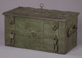 Antiques:Decorative Americana, FANTASTIC PIRATE'S TREASURE CHEST (SAFE) SPANISH COLONIAL AMERICACIRCA 1700-1750 - All original chest with very fancy lock...