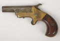 """Western Expansion:Cowboy, MARLIN NEVERMISS SINGLE SHOT DERINGER - Serial number 10999, circa1870s. 2 ½"""" round barrel in .32 rimfire caliber. Top of... (Total:1 Item)"""