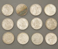 Western Expansion:Cowboy, LOT OF (12) MORGAN SILVER DOLLARS 1879-1886 - Very nice lot ofMorgan type silver dollars. Minted from 1878-1921. (1) 1879-...(Total: 1 Item)