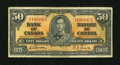 Canadian Currency: , BC-26a $50 1937.. ...
