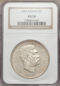 Coins of Hawaii, 1883 $1 Hawaii Dollar AU58 NGC....