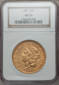Liberty Double Eagles, (10) 1861 $20 AU53 NGC.... (Total: 10 coins)
